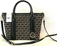 MICHAEL KORS GRIFFIN BLACK MEDIUM SATCHEL NWT! $348
