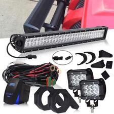 Bull Bar Mount Bracket Tube Clamps LED Pod Light + Bar Roll Cage Holders ATV UTV