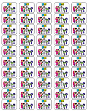 "50 Teen Titans Go! Envelope Seals / Labels / Stickers, 1"" x 1.5"""