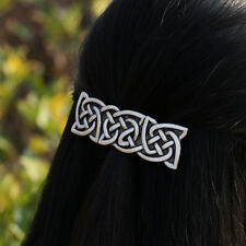 Antique Silver Vikings  Barrette Celtics Knots Large French Barrette Hair Clip