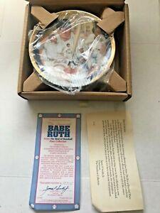 BABE RUTH NY Yankees Best of Baseball Hamilton Collection Plate 23K Gold COA