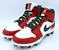 Nike Air Jordan 1 TD Mid Football Cleats Chicago White Red AR5604-106 Mens 10