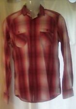 """Mens Ted Baker Red Check Shirt Size 3 - 38"""" Chest"""