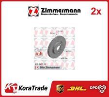 2x OE QUALITY BRAKE DISC SET 470243720 ZIMMERMANN P