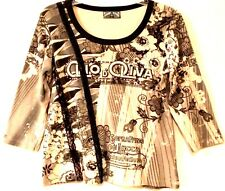 VANILLA SUGAR - Graphic Embellished Casual Top - Women's Size: PETITE LARGE