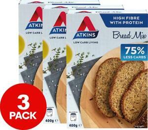3 x Atkins Low Carb Multi-Seed Bread Mix 400g