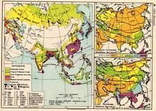 Asia (Economic) 1936 Original Antique Map