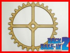 MDF Wooden Shapes Cogs 200mm High 3mm Thick Custom Cut x 3 pieces cog28