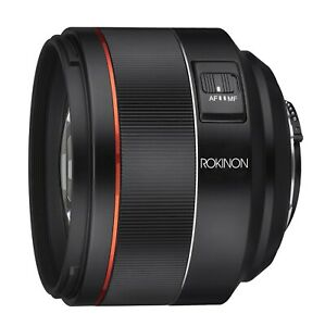 Rokinon AF 85mm f/1.4 Auto Focus High Speed Telephoto Lens for Nikon F Mount