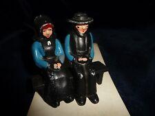 #10/9A Salt & pepper Shakers Cast Iron Man & Wonen On Bench by DALECRAFT