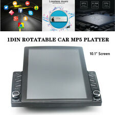 """1DIN Rotatable 10.1""""Android 8.1 HD Quad-core Car MP5 Stereo Radio Player GPS Nav"""