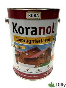 Koranol Imprägnierlasur Holzschutz Lasur 2,5ltr. Pinie Kiefer Eiche Palisander