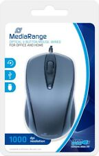 MediaRange MROS201 muis USB Optisch 1000 DPI Ambidextrous Zwart, Grijs