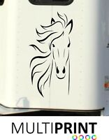 HORSE BOX GRAPHICS STICKERS LINE ART DECALS SELF ADHESIVE VINYL DECALS HOR7