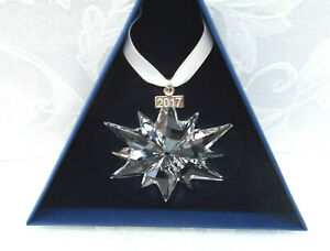 NIB 2017 Swarovski Crystal Large Snowflake / Star Christmas Ornament. - 5257589