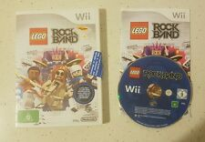 Wii Lego Rock Band Game - Complete- Pal - Fast Free Post! VGC!