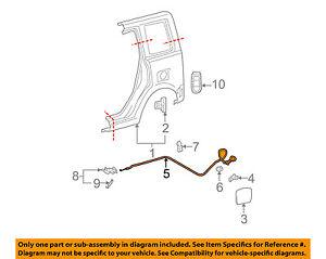 Scion TOYOTA OEM 04-06 xB Fuel Door Gas Cap Hatch-Release Cable 7703552040