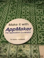 Make It With AppMaker The Application Generator Apple Macintosh Vintage Pin