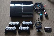 Sony PlayStation 3 - 4 Controllers - 2 Singstar Mics - Eyecreate Camera - 4 Game