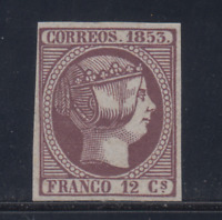 SPAIN (1853) - MINT - Sc# 20 - EDIFIL 18 (12 cu) FORGERY