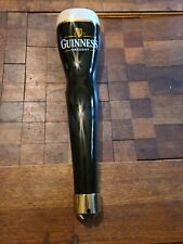 "Guinness Draught Ceramic Beer Tap Handle 16"" Gold Trim White Head"