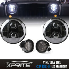 120w G1 LED Headlight with Halo Smoke Turn Signal Combo For 07-17 Jeep Wrangler