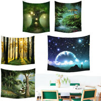 Bohemian Fairy Forest Tapestry Hippie Wall Hanging Throw Bedspread Home Decor