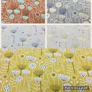 Fryett`s BERGEN Floral Cotton Fabric for Upholstery/Curtainscushions/Craft