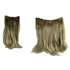 Hair Extensions Clip In 2 Piece POP Sandy Blonde Straight Volume 16""