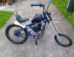 Motorised bike 80cc customized one of a kind rare harley
