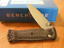 BENCHMADE New Mel Pardue G10 Folder Plain Edge 154CM Blade Knife/Knives