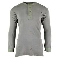 WWII Genuine Swedish army grey shirt military surplus undershirt cold weather