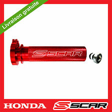 TUBE GAZ ACCELERATEUR ALU ROULEMENT HONDA CRF 250 450 X CRF250R CRF450R ROUGE
