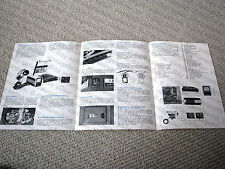 Akai VTS-100S reel to reel video tape recorder (VTR) brochure