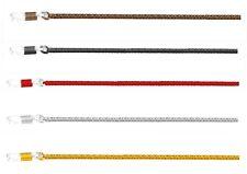 Brillenband Brillenkordel aus Metall Alu, Gummischlaufe verstellbar, 5 Farben