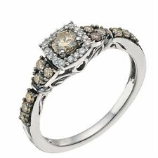 9 Carat Engagement Halo White Gold Fine Rings