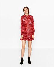 ZARA sz 14 (or L / 10 us ) womens Jacquard Mini Dress NEW + TAGS [#4089]