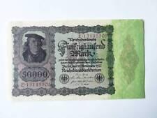 1 Geldschein 50000 fünfzigtausend Mark Reichsbanknote  November 1922  '16