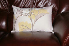 Laura Ashley Millwood Camomile Bolster Cushion Cover Linen Blend. 18in X 12in