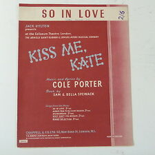 Songsheet così in Love [ KISS ME Kate ]