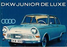 DKW Junior De Luxe Saloon 1961-62 UK Market Foldout Sales Brochure