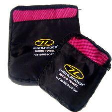 LADIES MICROFIBRE BATH TOWEL SET pink 2 pack luxury travel camp kit fast drying