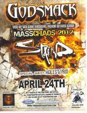 Godsmack Masschaos 2012 Concert Double-Sided Handbill