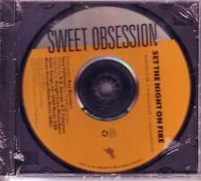 SWEET OBSESSION Set the Night on Fire RADIO EDIT & INSTRUMENTAL PROMO CD Single