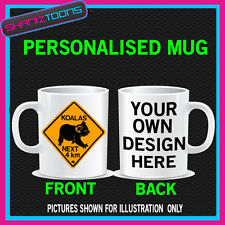 AUSTRALIA KOALA SIGN BIRTHDAY MUG GIFT PERSONALISED
