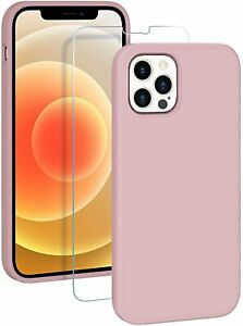 IPHONE 12 / 12 PRO PHONE CASE COVER, SHOCKPROOF SILICONE MICROFIBRE LINING, PINK
