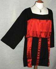 Viscose Square Neck 3/4 Sleeve Plus Size Dresses for Women