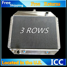 3 Rows Aluminum Radiator For Ford Bronco 78-79, F-100 F-150 F-250 F-350 70-79 V8