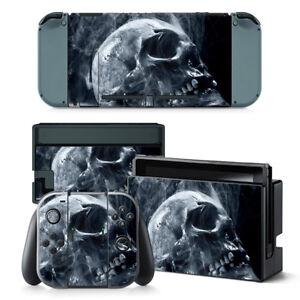 Nintendo Switch Skin Design Foils Aufkleber Schutzfolie Set - Acid Skull Motiv