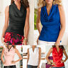 Fashion Womens Summer Casual Sleeveless Cowl Neck Vest Blouse Tank Tops T-Shirt